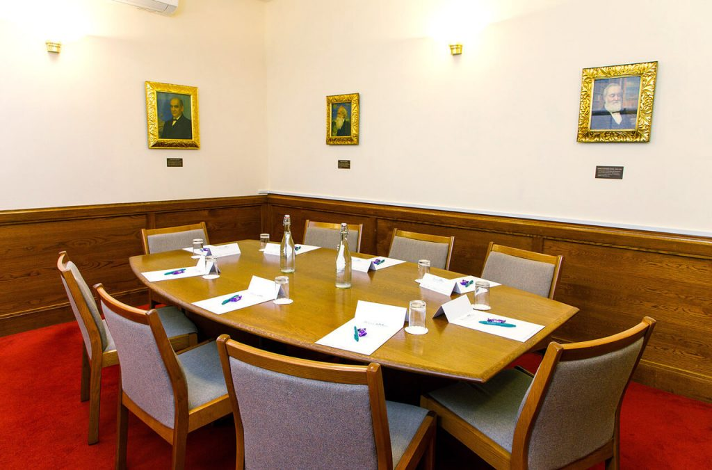 The Southall room board room layout at the The Priory Rooms meeting venue in Birmingham
